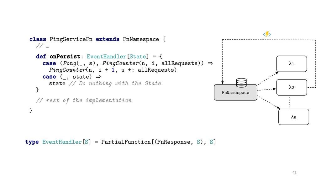 class PingServiceFn extends FnNamespace { // … ...