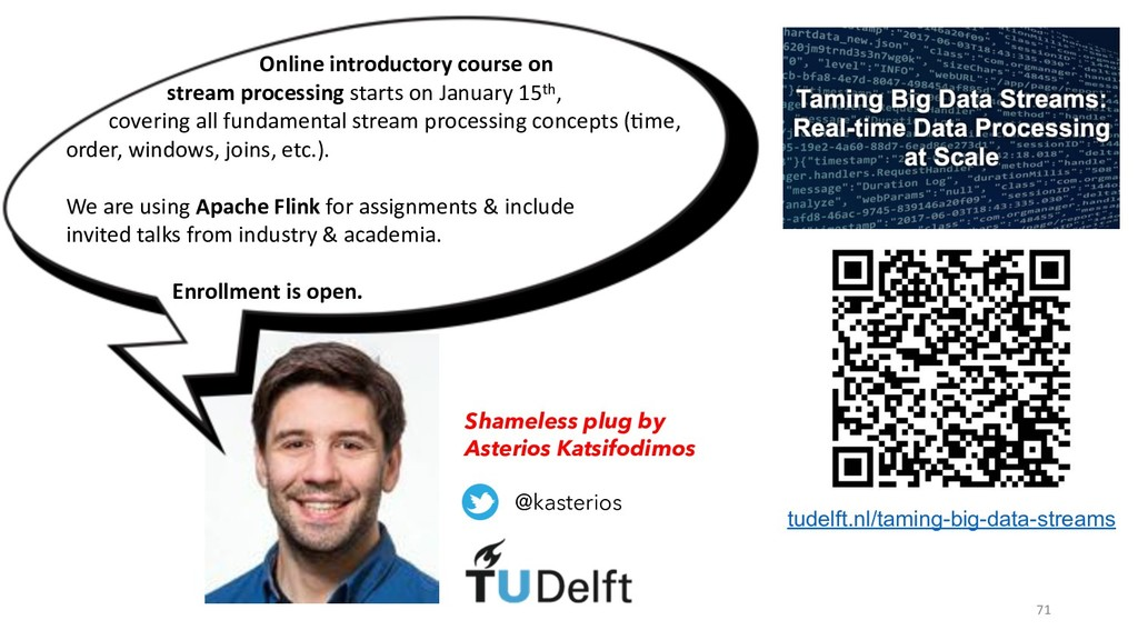 71 Online introductory course on stream process...