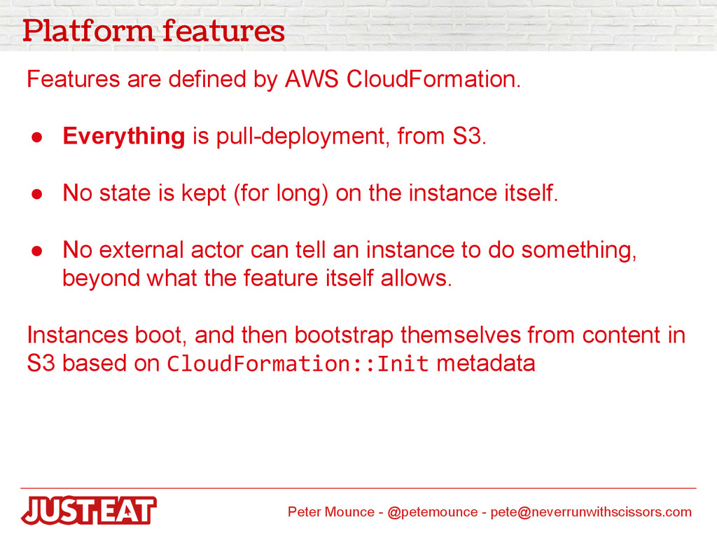 Platform features Features are defined by AWS C...