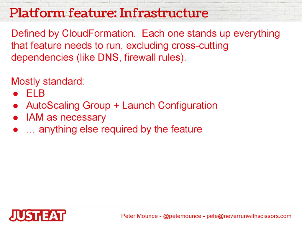 Platform feature: Infrastructure Defined by Clo...