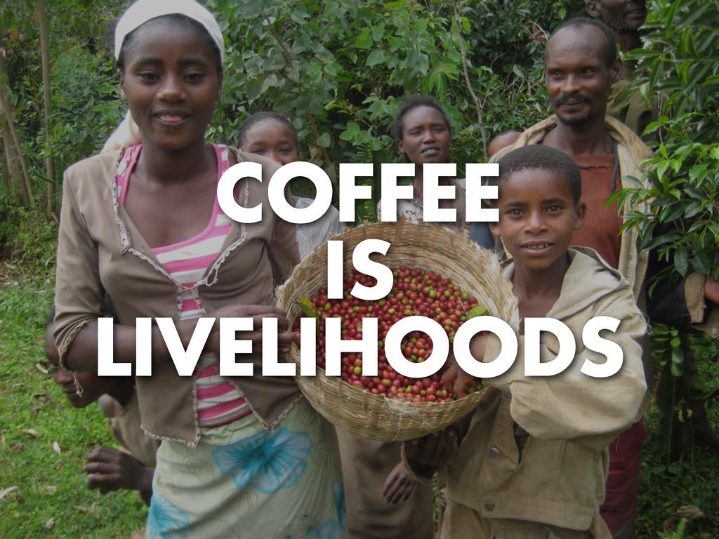COFFEE IS LIVELIHOODS