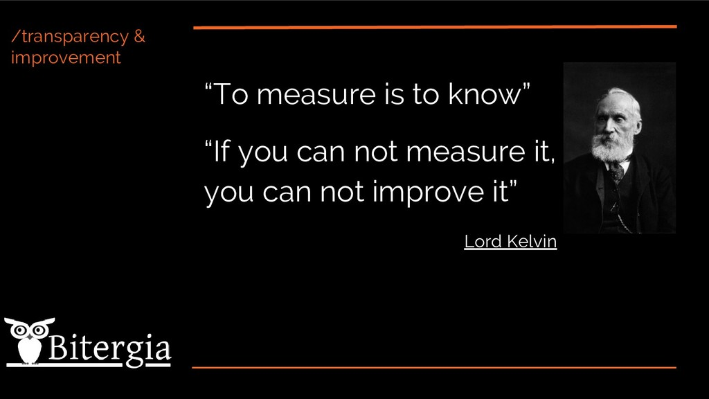 """/transparency & improvement """"To measure is to k..."""