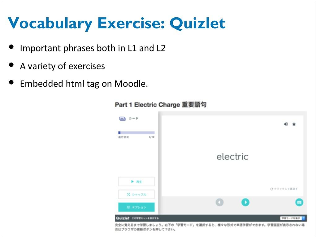 Vocabulary Exercise: Quizlet • Important phrase...