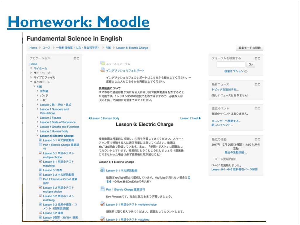 Homework: Moodle