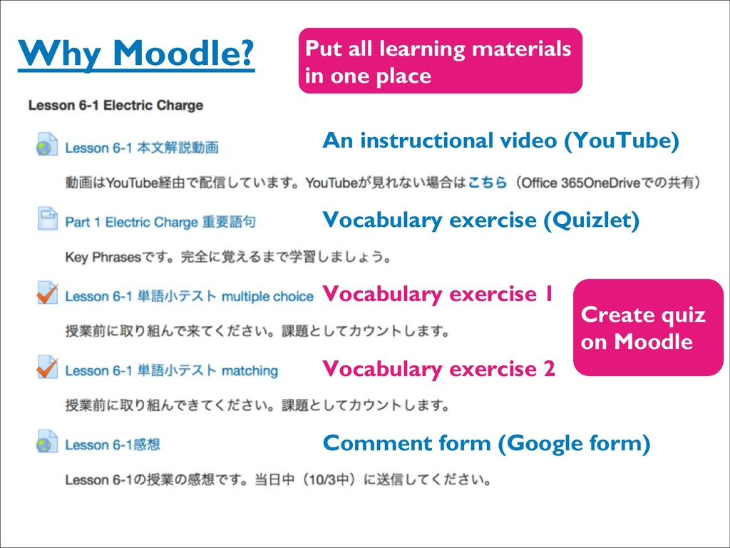 Why Moodle? An instructional video (YouTube) Vo...