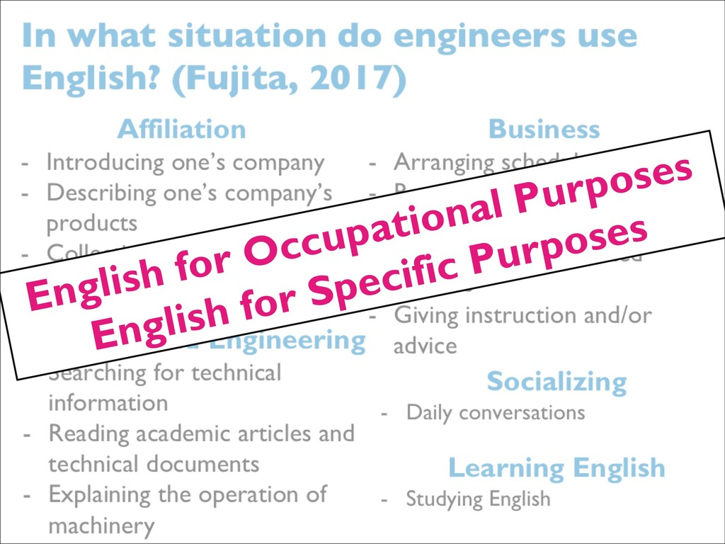 English for Occupational Purposes English for S...