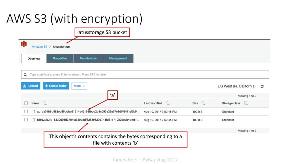 James Abel – PyBay Aug 2017 AWS S3 (with encryp...