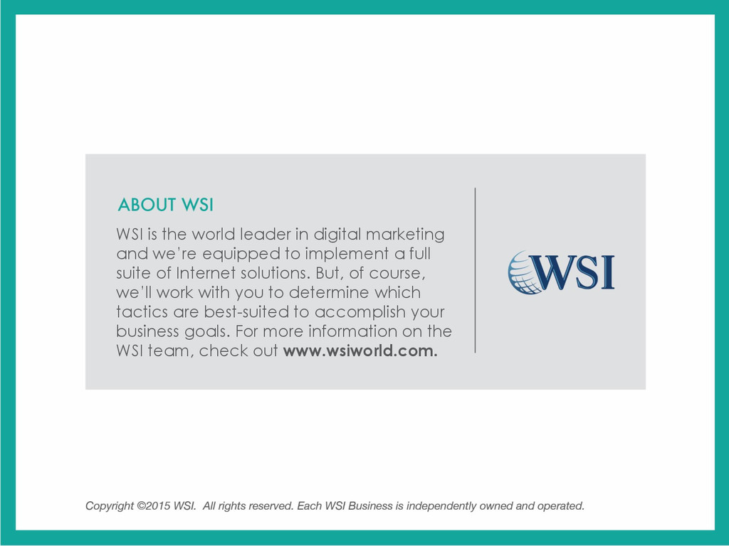 WSI is the world leader in digital marketing an...