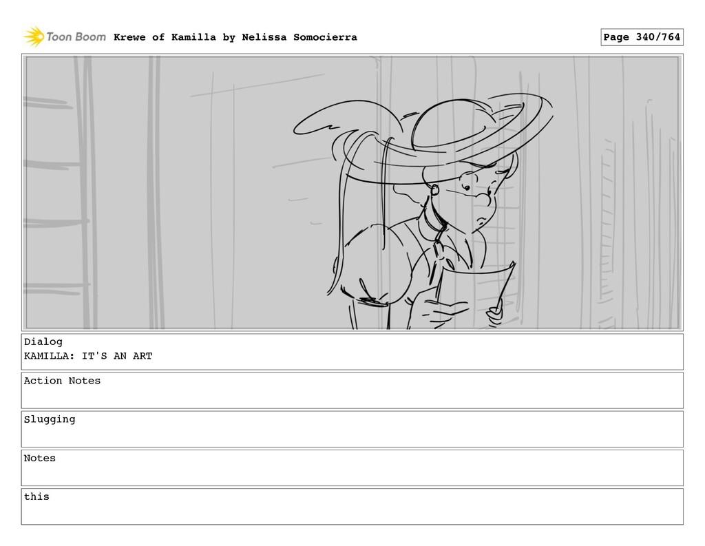 Dialog KAMILLA: IT'S AN ART Action Notes Sluggi...