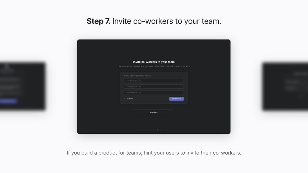 Step 7. Invite co-workers to your team. If you ...