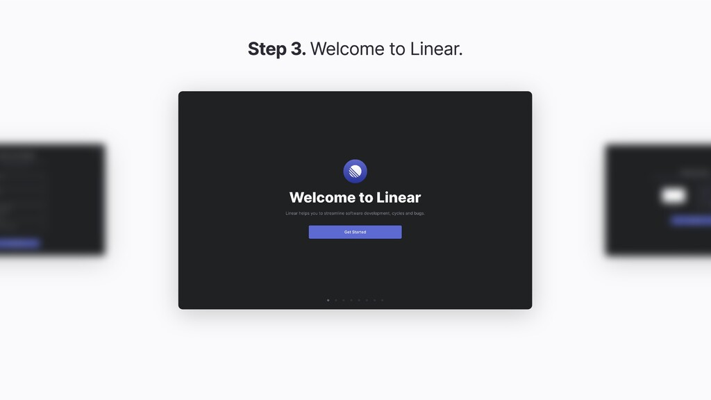 Step 3. Welcome to Linear.