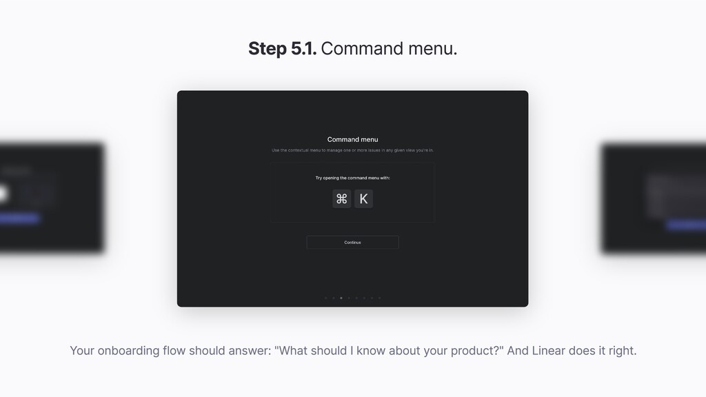 Step 5.1. Command menu. Your onboarding flow sh...