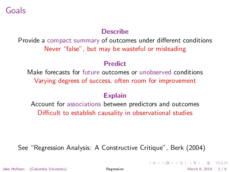 Goals Describe Provide a compact summary of out...