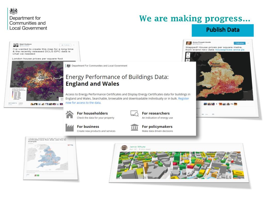 Publish Data We are making progress…
