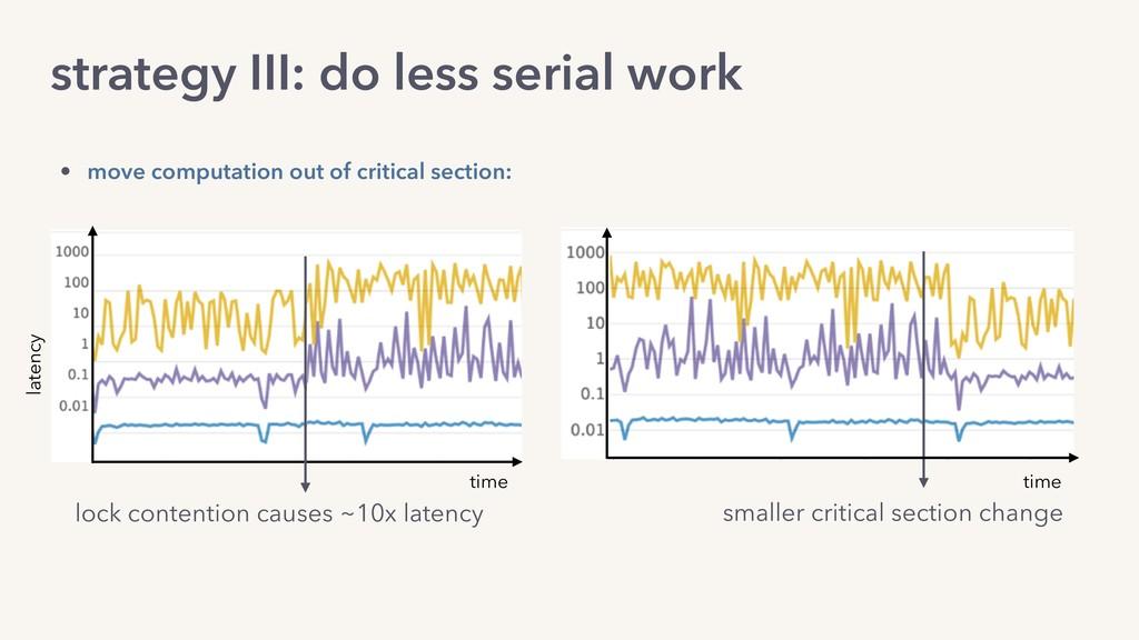 strategy III: do less serial work lock contenti...