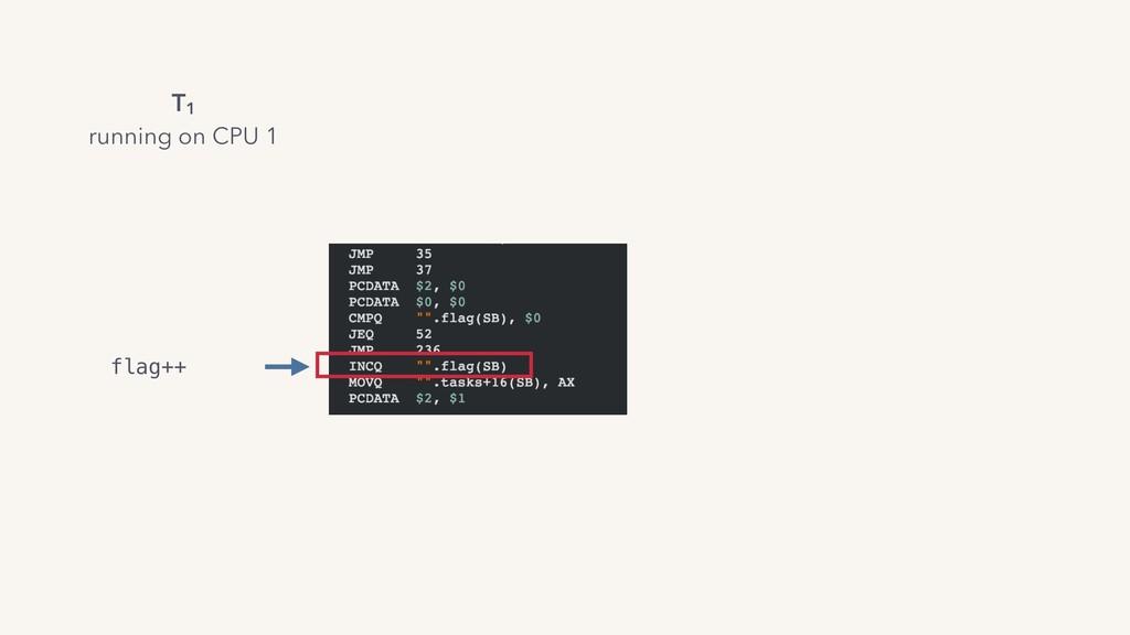 flag++ T1 running on CPU 1