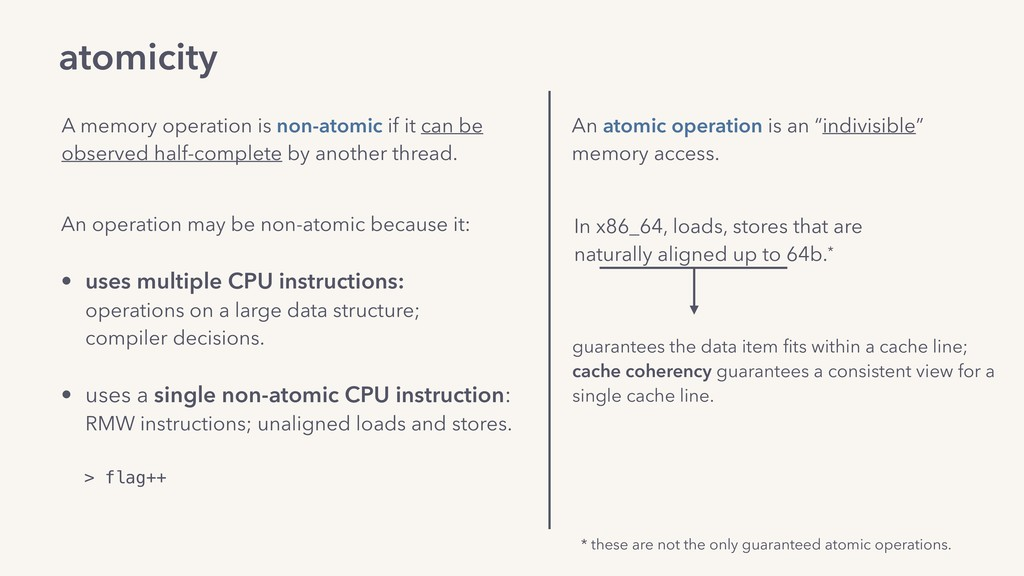 atomicity A memory operation is non-atomic if i...