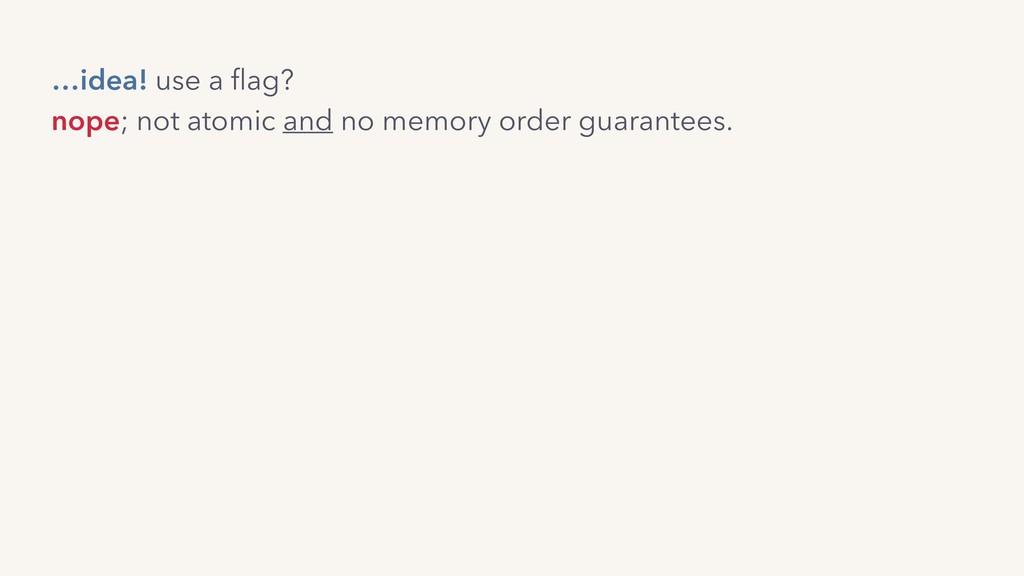 nope; not atomic and no memory order guarantees...
