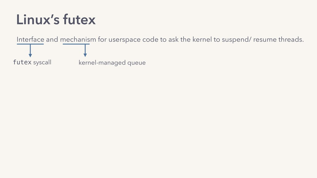 Linux's futex Interface and mechanism for users...