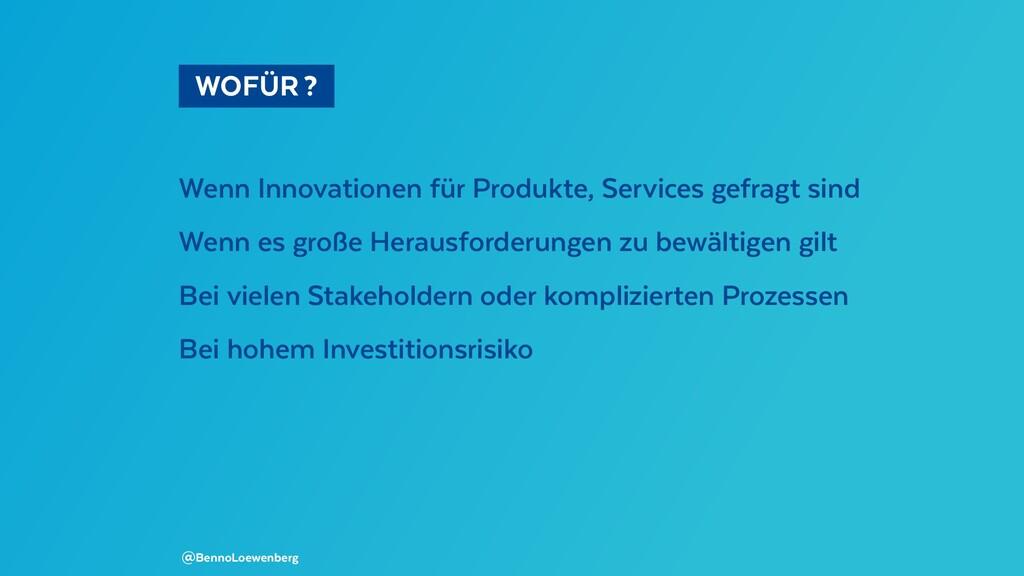 WOFÜR? Wenn Innovationen für Produkte, Serv...