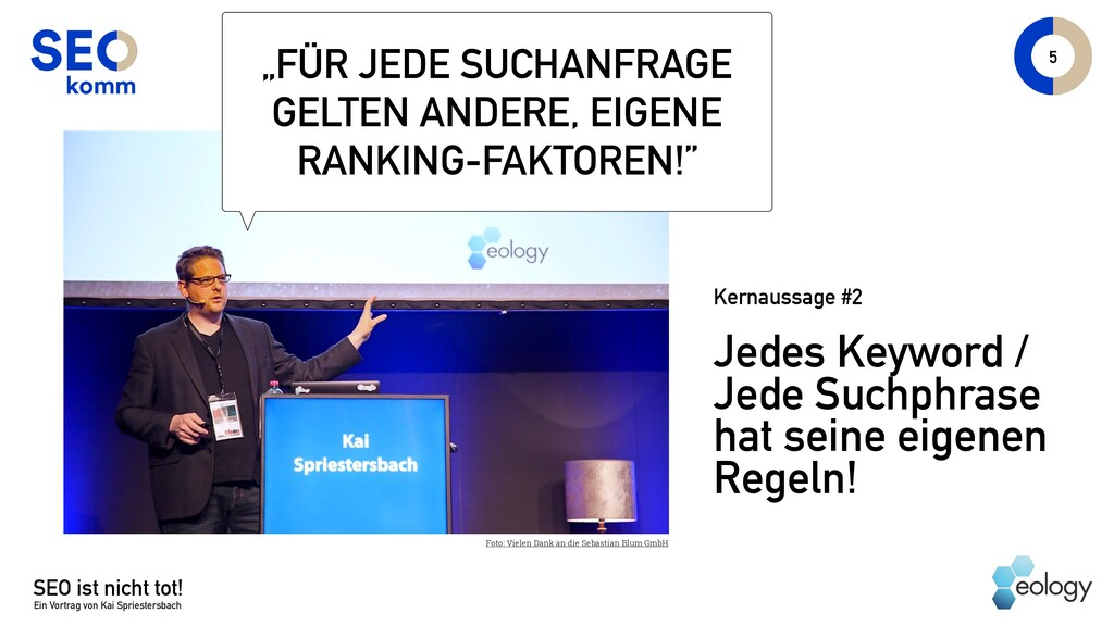 SEO ist nicht tot! Ein Vortrag von Kai Sprieste...