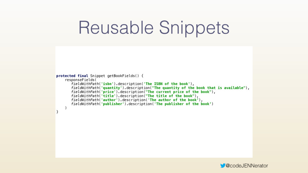 @codeJENNerator Reusable Snippets protected fin...