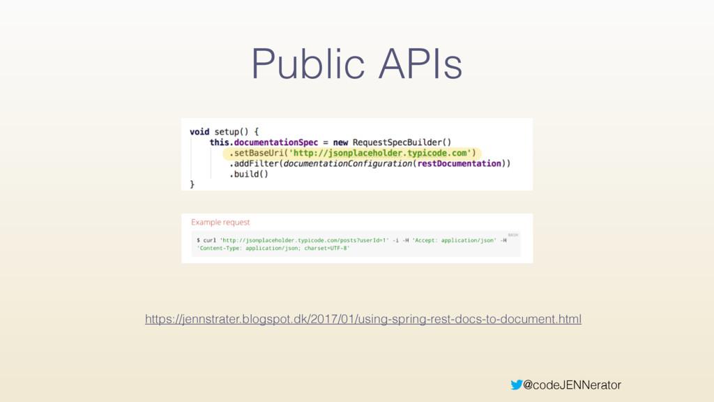 @codeJENNerator Public APIs https://jennstrater...
