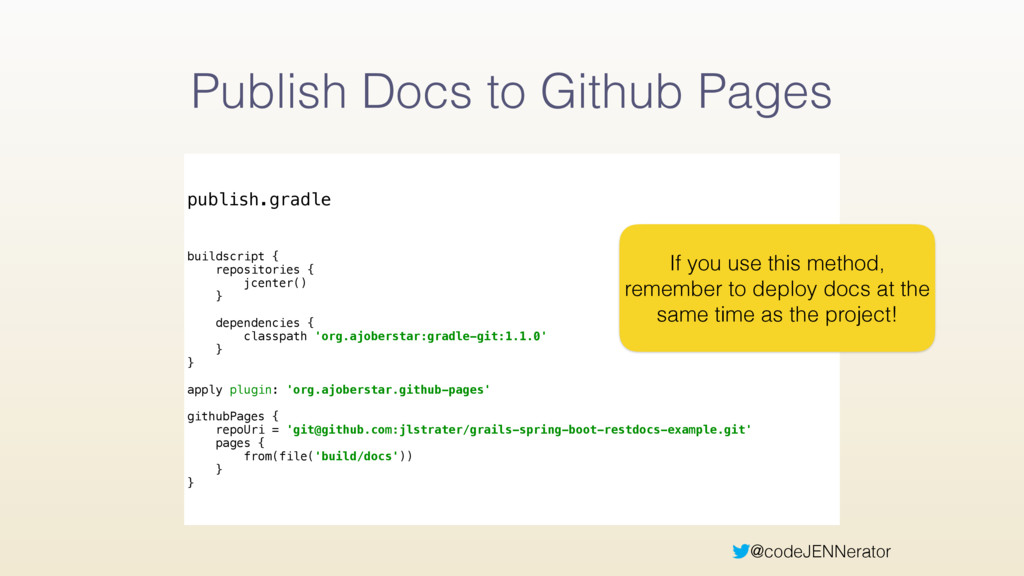 @codeJENNerator Publish Docs to Github Pages pu...