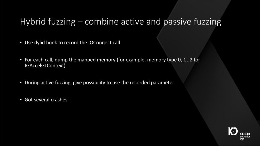 Hybrid fuzzing – combine active and passive fuz...