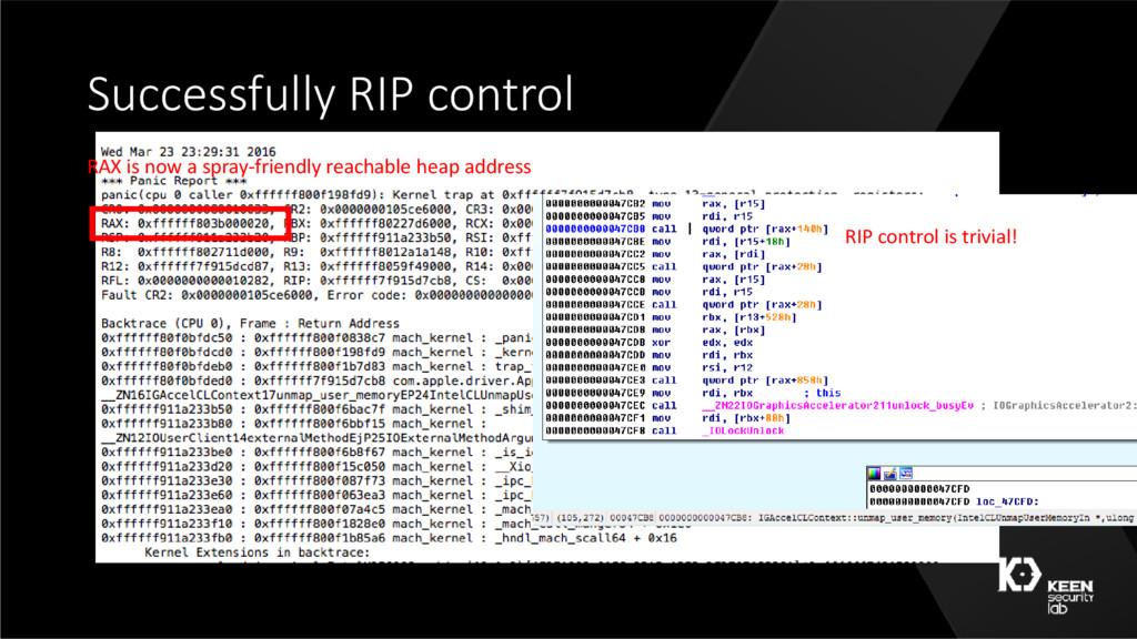 Successfully RIP control RAX is now a spray-fri...
