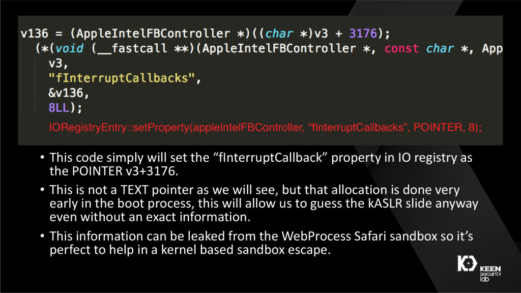 """• This code simply will set the """"fInterruptCall..."""