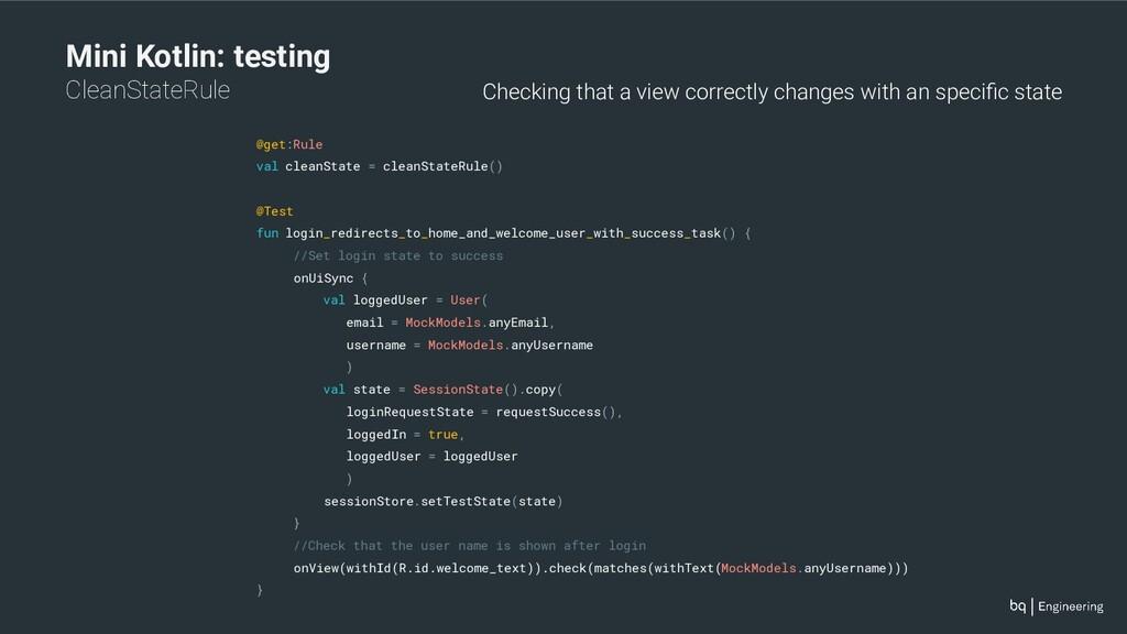 Mini Kotlin: testing CleanStateRule @get:Rule v...