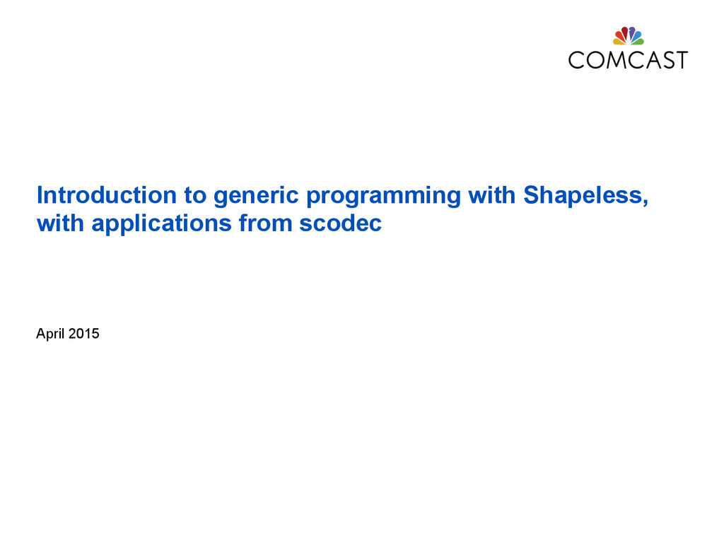 Introduction to generic programming with Shapel...