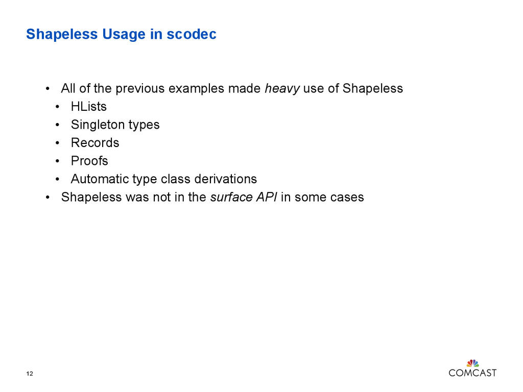 Shapeless Usage in scodec 12 • All of the previ...