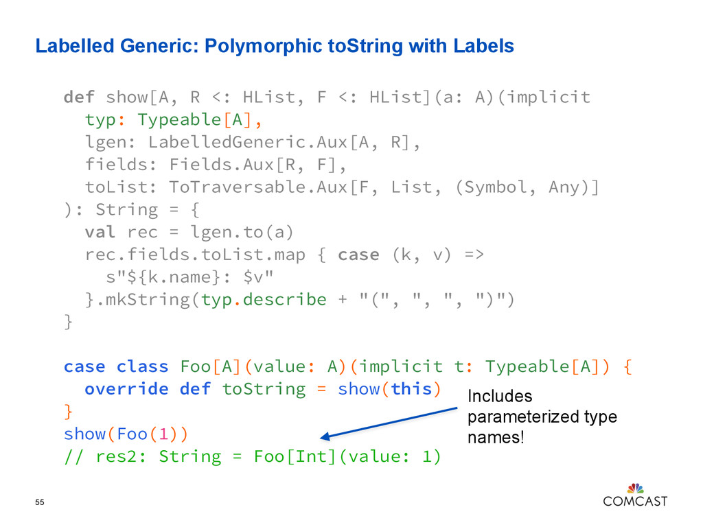 Labelled Generic: Polymorphic toString with Lab...
