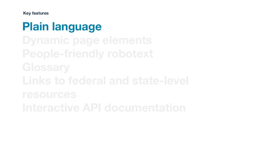Plain language Dynamic page elements People-fri...