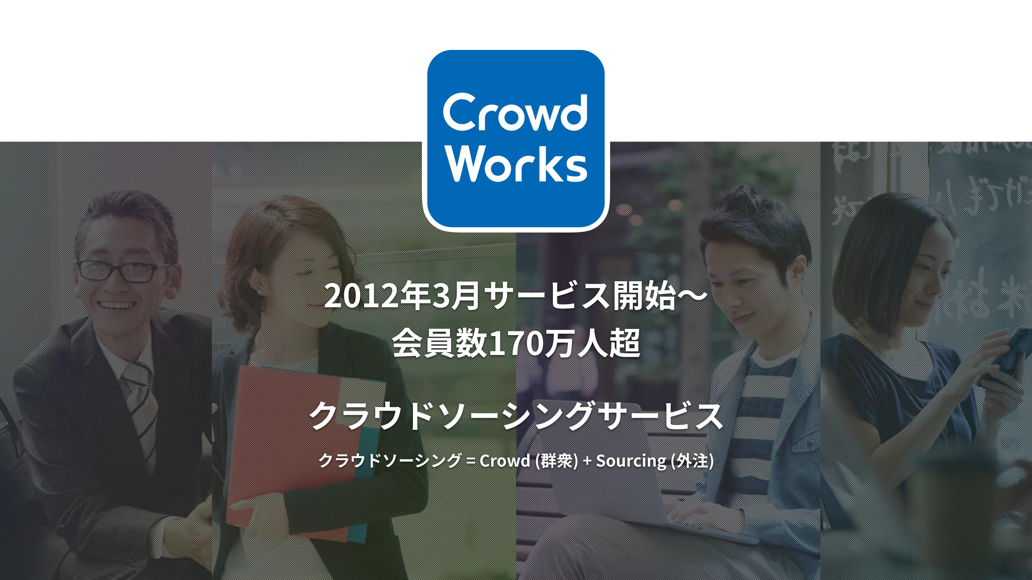 クラウドソーシングサービス クラウドソーシング = Crowd (群衆) + Sourcing...