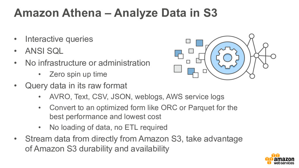 Amazon Athena – Analyze Data in S3 • Interactiv...