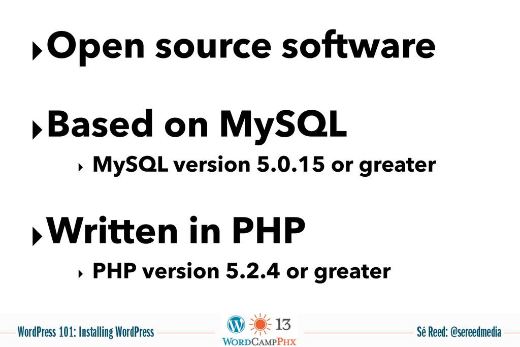 ‣Open source software ‣Based on MySQL ‣ MySQL v...