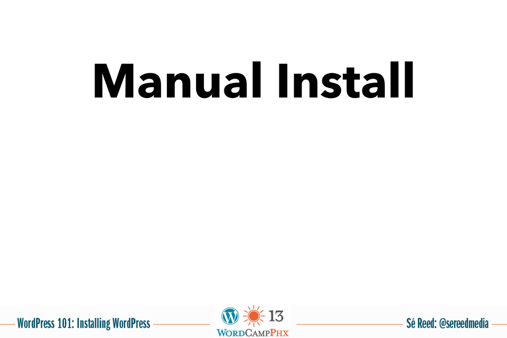 Manual Install