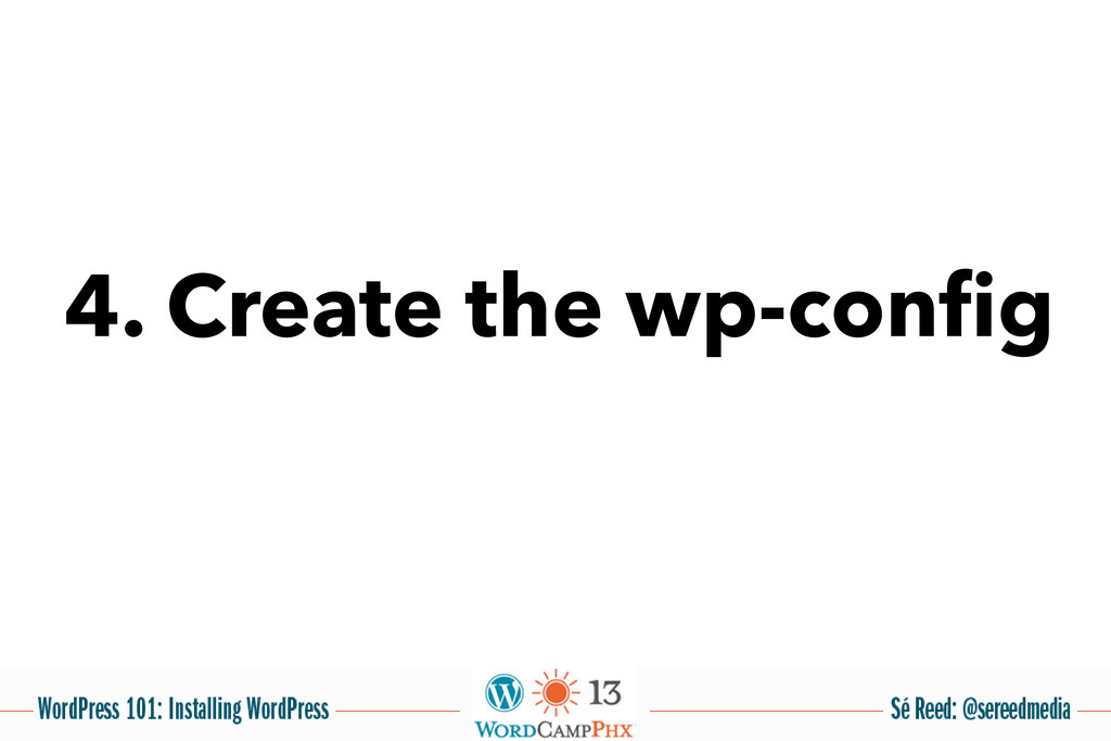 4. Create the wp-config