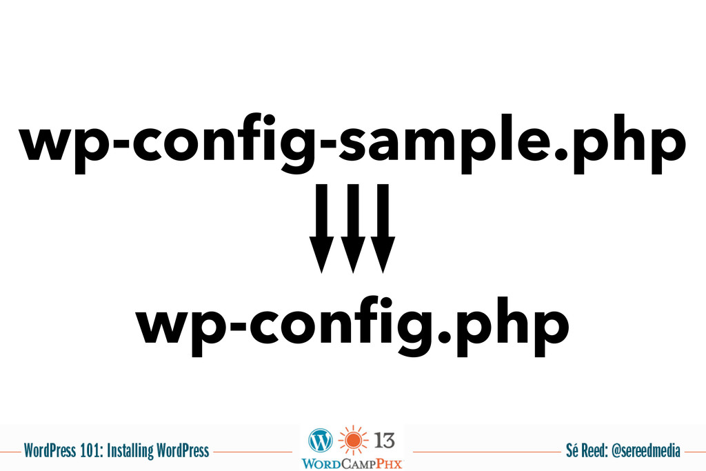 wp-config-sample.php wp-config.php