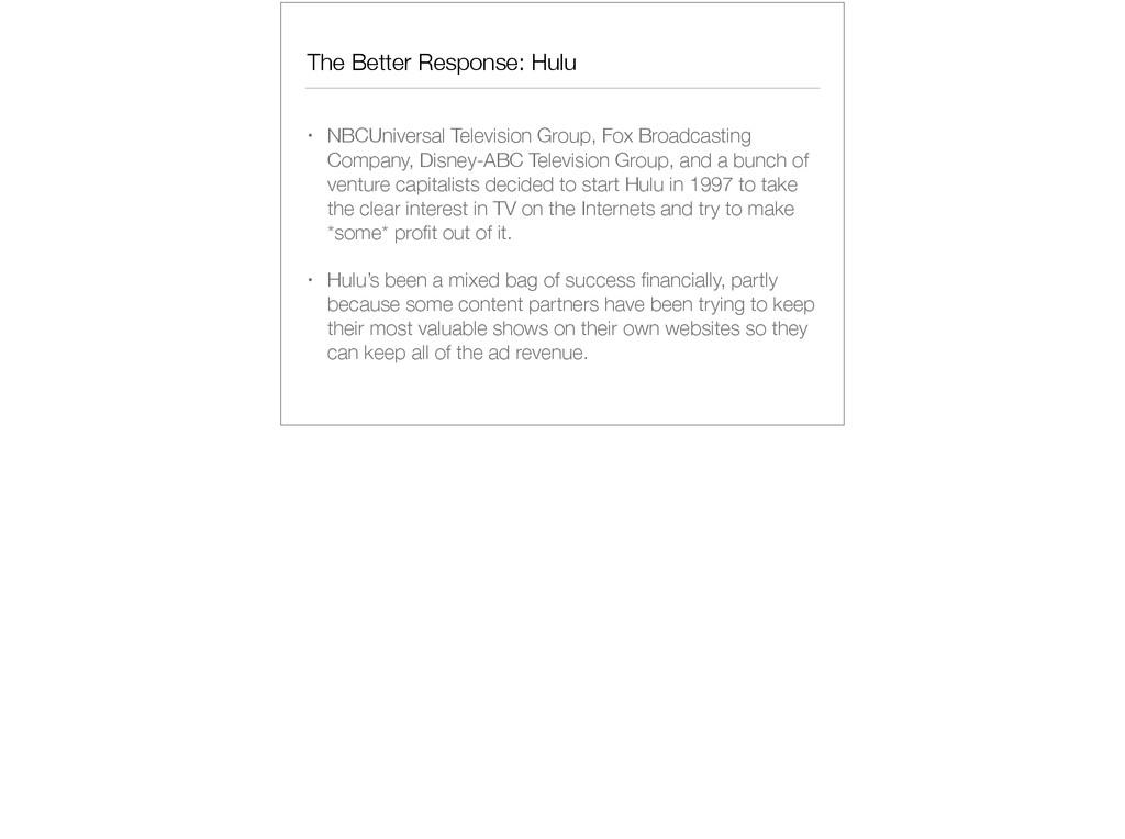 The Better Response: Hulu • NBCUniversal Televi...