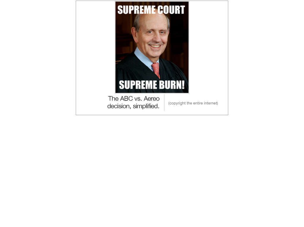 The ABC vs. Aereo decision, simplified. (copyrig...