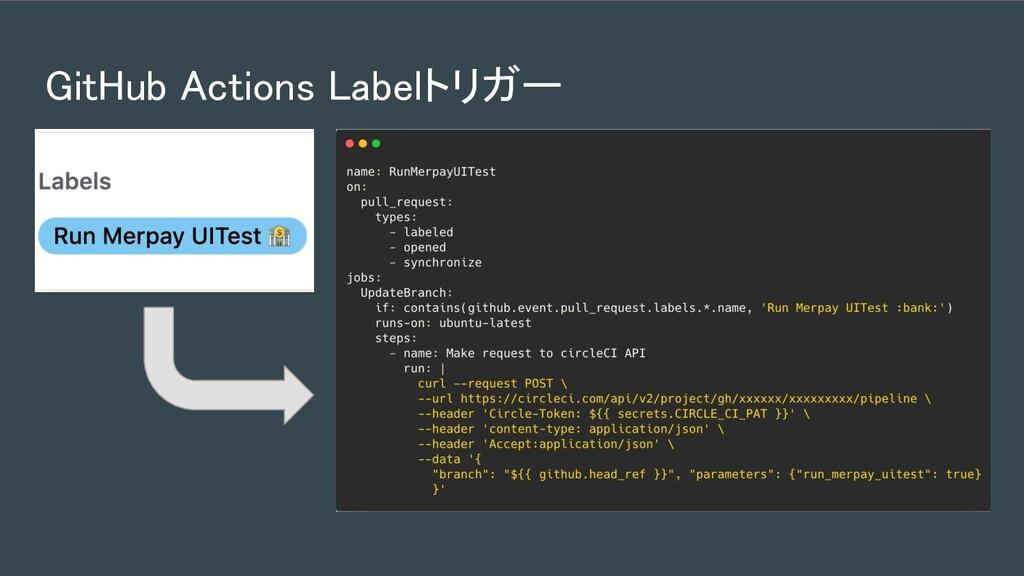 GitHub Actions Labelトリガー