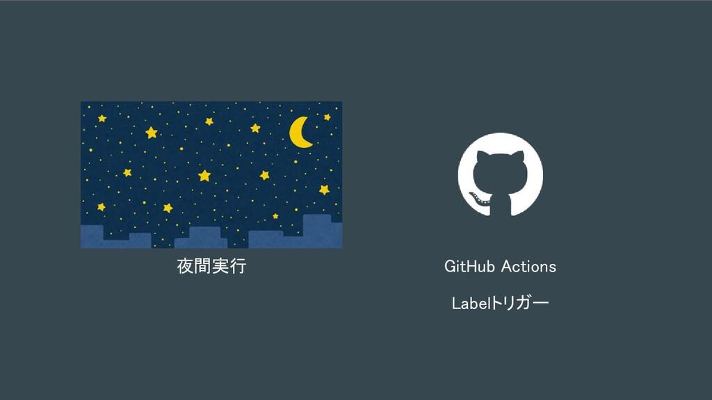 夜間実行 GitHub Actions Labelトリガー