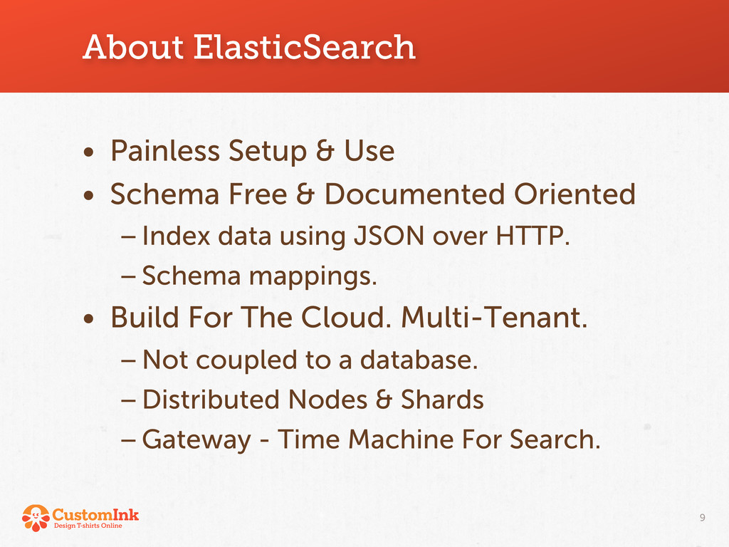 About ElasticSearch • Painless Setup & Use • Sc...