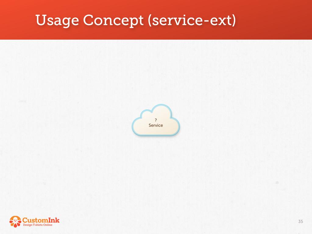 ? Service Usage Concept (service-ext) 35