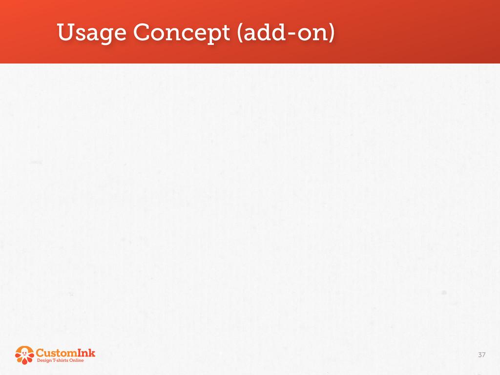 Usage Concept (add-on) 37