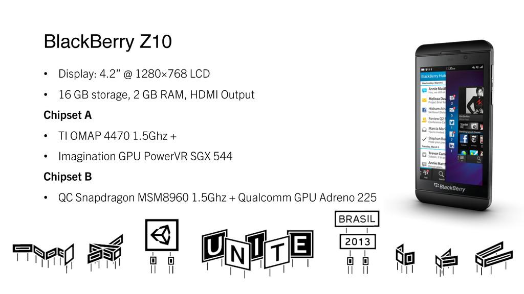 """BlackBerry Z10 ! • Display: 4.2"""" @ 1280×768 L..."""